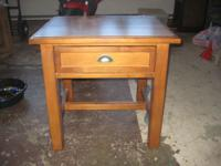Pottery Barn bedside table.  1 drawer.  Dimensions are