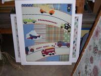 Beep - Beep - Babies Quilt Wall Hanging - Reclaimed