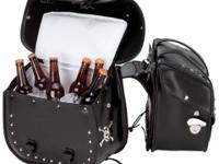 Beer Bags 4pc Studded Motorcycle Saddlebag Cooler Set.