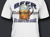 Beer it's what's for dinner (high def screen print)!