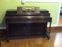 Piano, though old, is in good shape mechanically. Would