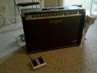 This is a Behringer GX 212 guitar amp. Very loud, comes