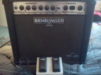 A Behringer Gx110 Modeling amp, 30 watts loud enough to