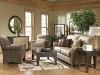 Zane Beige Microfiber Sofa & Chair Set $599.99