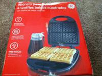GUC Hamilton Beach 4 square waffle maker in an original