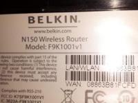 I'm selling a Belkin Wireless Router N150, Model
