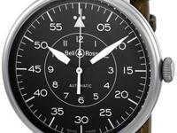 Bell and Ross Military Black Dial Distressed Leather