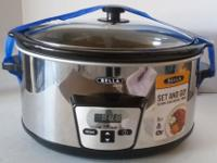 5 Quart slow cooker programmable for 30 minutes to 20