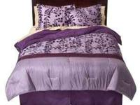 Beautiful Purple Bedding Set!!! It is Bella's bed set