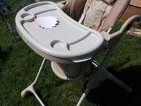 like new, full time working mom gently used highchair.