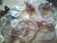 we have kids handmade headbands, hair barrets, key
