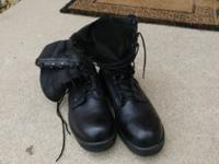 Bellevue black work boots. Only worn a few times.