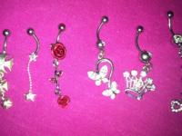 I have many belly button rings available, some of them