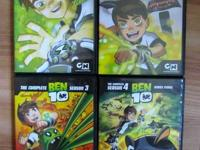 Ben 10:   The Complete Seasons 1, 2, 3, and 4  Each is