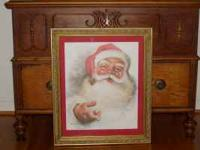 I HAVE THE SANTA CLAUS PRINT WHICH HAS THE PRINTED