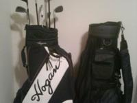 Ben hogan golf bag hardly used and clubs with extra bag