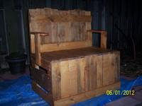 I have a 2-seater patio and/or porch bench for sale at