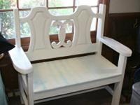 We are selling this one of a kind headboard bench.  You