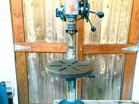 "Stands 4ft tall. 1/2"" Chuck and key. 1/3 horse power."