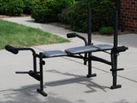 Weider 140 Home Gym Features: Flat, inclined and