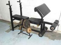 Bench -Weights/ Squat Rack & 70lbs in weights $75.00