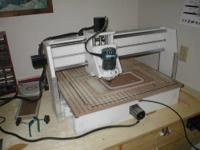 CNC Shark Pro table top router/shaper with a working