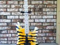 Beautiful Bengal Striped Charvel type guitar with