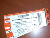 I have two tickets to the Bengals vs. Minnesota Vikings