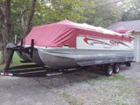 2006 Bennington super sport tritoon 2275 with lifting