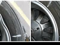 CRACKED OR BENT ALLOY TIRE REPAIR.   TIRES TIN BE