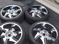Bentchi 22 Inch Rims with tires that have 95% life