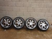Hi I am sell 4 Bentchi chrome wheels 20x8.5 with