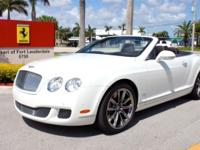 2011 Bentley Continental GTC Speed 80-11 EditionWith