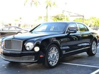 This 2012 Bentley Mulsanne 4dr Sedan features a 6.8L V8