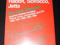 Rabbit Scirocco Jetta Service Manual 80-84 by Bentley