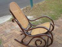 Nice modern rocker in great condition Brown and tan