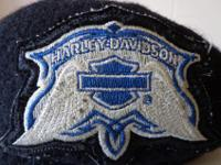 Beret hat with a Harley Davidson on the front from