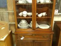 3 piece set china cabinet buffet and table with six