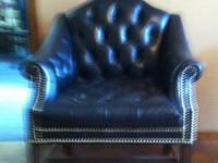 Bernhardt Leather Chair. Foster Collection. Width (side