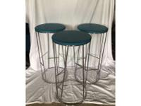 Bernhardt Design 'Forest' stools*chrome plated steel