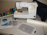 Nearly new Bernina Deco 340 Embroidery Machine. RARELY