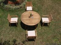 (4 seat) KAMAY TEAK DINING SET PRICE: $2,235.00