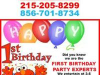 Focusing on 1st Birthday Parties. We are booking