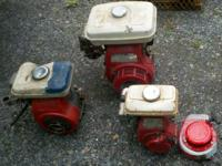 THERE ARE 3 HONDA ENGINES FOR SALE. THEY ARE OLDER