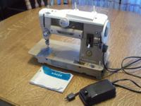 I have a Singer Slant-O-Matic 401 sewing machine.