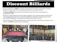 Are you looking for a BRAND-NEW pool table or