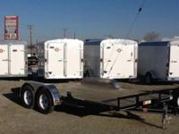 "PJ Design C4 83""X16' Automobile Trailer, Powder Coated"
