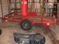 Tilt Trailer 10 X 5, new tires, great condition, garage