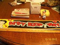 Betty Boop sign, trinket Box an Pen        $25.00 for