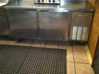 "Beverage-Air...Stainless Steel...Appr 66""x30"" w/ Back"